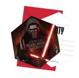 Star wars uitnodigingen 6 stuks
