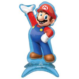 Super Mario folie ballon op standaard 33x58cm