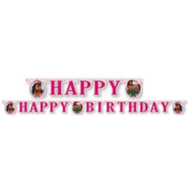 Paarden letterslinger Happy Birthday 2m