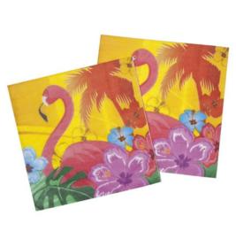 Flamingo servetten 12 stuks 33x33cm