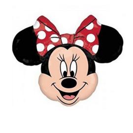 Minnie Mouse folie ballon op stok 25cm