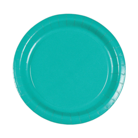 Borden turquoise 10 stuks 23cm