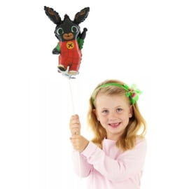Bing konijn folie ballon op stok 36cm