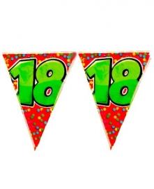 Vlaggenlijn verjaardag 18 jaar