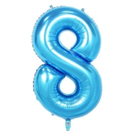 Folie ballon acht blauw 1m