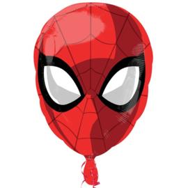 Spiderman gezicht folie ballon 43x46cm