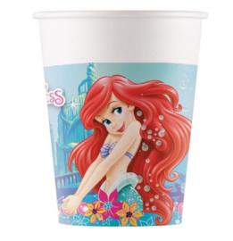 Ariel de kleine zeemeermin bekers 8 stuks 250ml