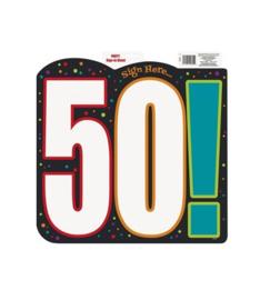 Schild verjaardag 50 jaar