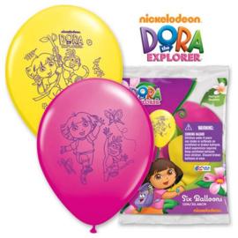 Dora ballonnen 6 stuks 30cm