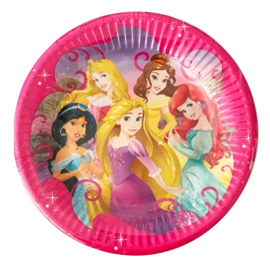 Prinsessen bordjes 8 stuks 20cm