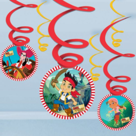 Jake and the neverland hangdecoratie 6 stuks
