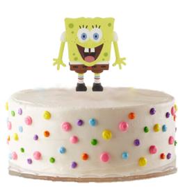 Spongebob taart versiering 6cm