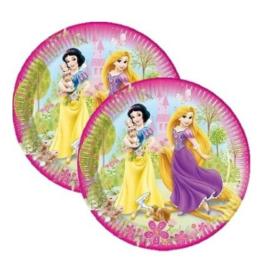 Prinsessen borden 8 stuks 20cm