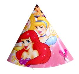 Prinsessen feesthoedjes 6 stuks