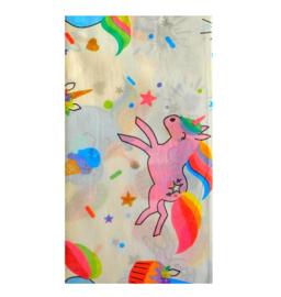 Eenhoorn tafelkleed papier 140x200cm