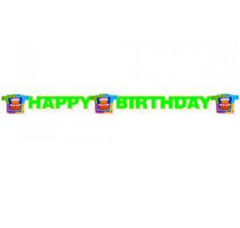 Verjaardag taart letterslinger 180cm