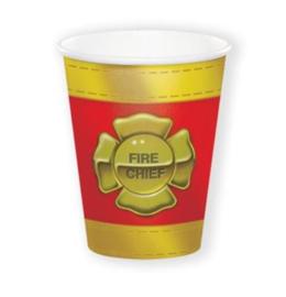 Brandweer bekers 8 stuks 266ml