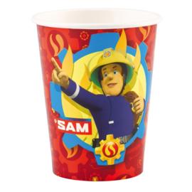 Brandweerman Sam bekers 8 stuks 250ml