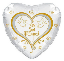 Just Married folie ballon 43cm
