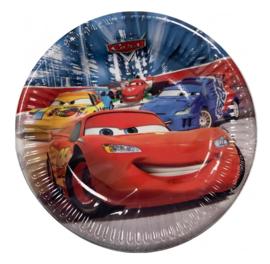Cars bordjes 8 stuks 19,5cm