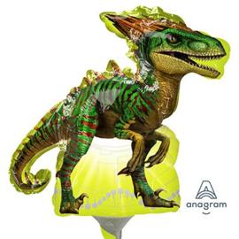 Jurassic World raptor folie ballon op stok 25cm
