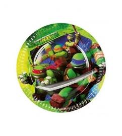 Ninja Turtles borden 8 stuks 23 cm