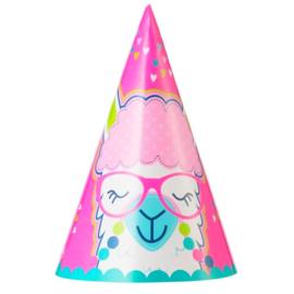 Lama feesthoedjes 8 stuks