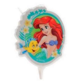 De kleine zeemeermin Ariel taartkaars 7,5cm