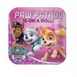 Paw Patrol borden 8 stuks 23cm