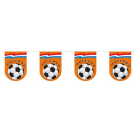 Slinger oranje voetbal plastic 10m