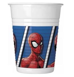 Spiderman bekers 8 stuks 200ml