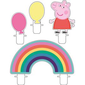 Peppa Pig taartkaarsjes 4 stuks