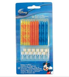 Mickey Mouse taartkaarsjes 12 stuks