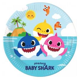 Baby Shark borden 8 stuks 23cm