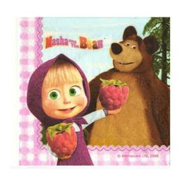 Masha en de beer servetten 16 stuks 33cm