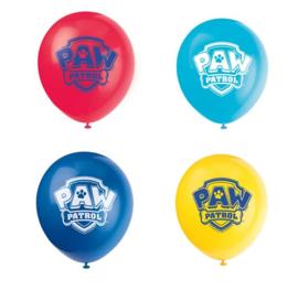 Paw Patrol ballonnen 8 stuks 30cm