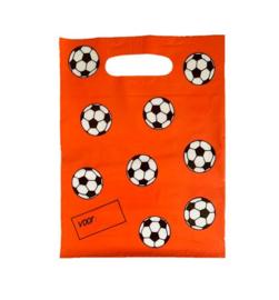 Oranje voetbal feestzakjes 10 stuks