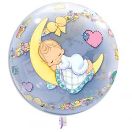Baby Shower ballon doorzichtig 40cm