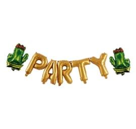 Cactus lama thema gouden letters folie ballon 3m