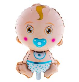 Baby jongen folie ballon 68cm