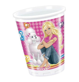 Barbie bekers plastic 8 stuks 200ml