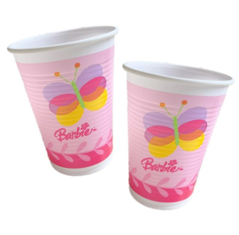 Barbie bekers plastic 10 stuks 200ml