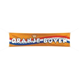 Oranje voetbal spandoek 180x40cm
