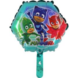 PJ Masks folie ballon op stok 20cm