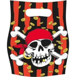 Piraten feestzakjes 6 stuks