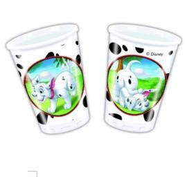 101 Dalmatiers bekers plastic 8 stuks 200ml