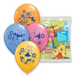 Winnie de Poeh ballonnen 6 stuks