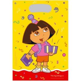Dora feestzakjes 6 stuks 17x24cm