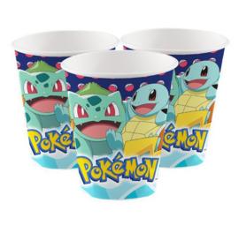 Pokemon bekers 8 stuks 250ml