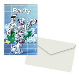 101 Dalmatiers uitnodigingen 5 stuks